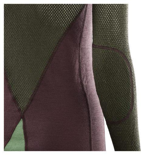102730-248 Aclima WoolNet Hybrid ženska majica dugih rukava Crew Neck detail