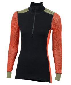 103278-142 Aclima WoolNet Hybrid ženska majica dugih rukava sa zipom Mock Neck front