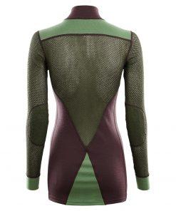 103278-248 Aclima WoolNet Hybrid ženska majica dugih rukava sa zipom Mock Neck back