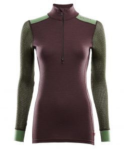 103278-248 Aclima WoolNet Hybrid ženska majica dugih rukava sa zipom Mock Neck front