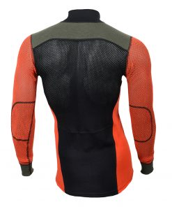 103279-143 Aclima WoolNet Hybrid muška majica dugih rukava sa zipom Mock Neck back