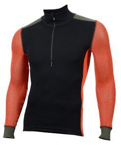 103279-143 Aclima WoolNet Hybrid muška majica dugih rukava sa zipom Mock Neck front