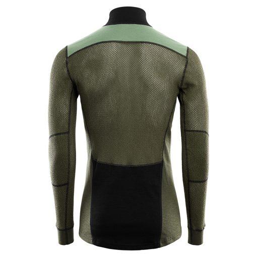 103279-247 Aclima WoolNet Hybrid muška majica dugih rukava sa zipom Mock Neck back
