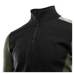 103279-247 Aclima WoolNet Hybrid muška majica dugih rukava sa zipom Mock Neck detail 1