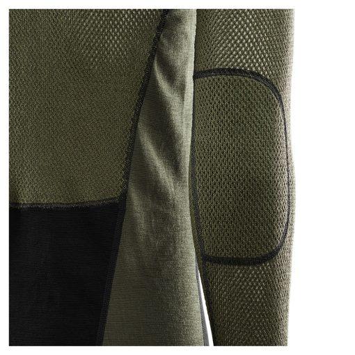 103279-247 Aclima WoolNet Hybrid muška majica dugih rukava sa zipom Mock Neck detail