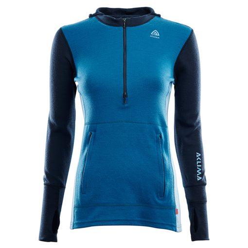 104078-262 Aclima WarmWool ženska hoodie dugih rukava sa zipom prednja strana