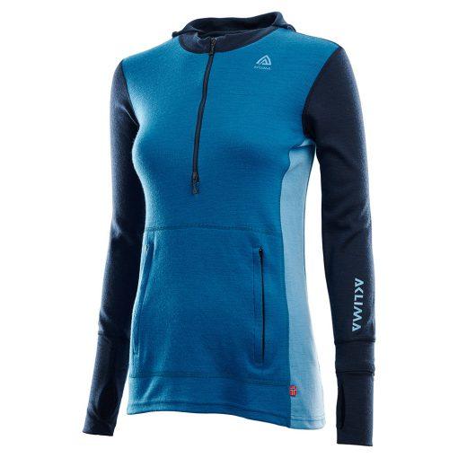 104078-263 Aclima WarmWool ženska hoodie dugih rukava sa zipom bok