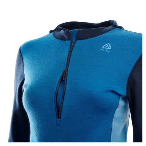 104078-263 Aclima WarmWool ženska hoodie dugih rukava sa zipom detalj
