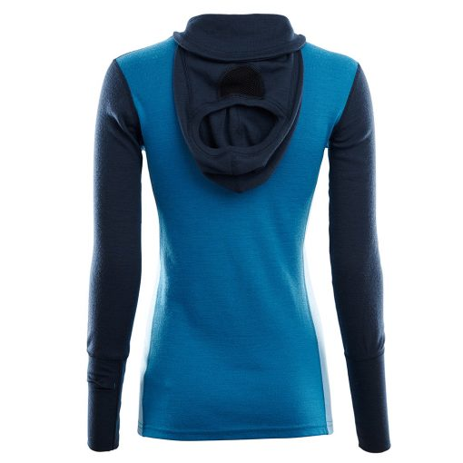 104078-263 Aclima WarmWool ženska hoodie dugih rukava sa zipom zadnja strana