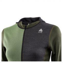 104078-284 Aclima WarmWool ženska hoodie dugih rukava sa zipom detalj