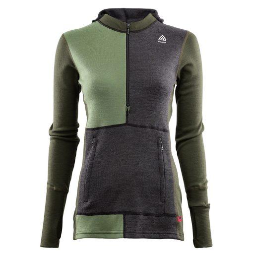 104078-284 Aclima WarmWool ženska hoodie dugih rukava sa zipom prednja strana