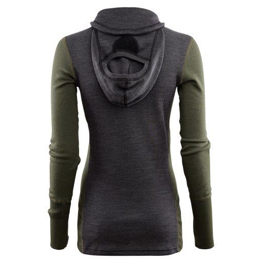 104078-284 Aclima WarmWool ženska hoodie dugih rukava sa zipom zadnja strana