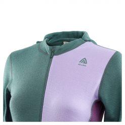 104078-300 Aclima WarmWool ženska hoodie dugih rukava sa zipom detalj