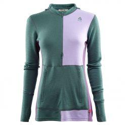 104078-300 Aclima WarmWool ženska hoodie dugih rukava sa zipom prednja strana