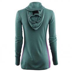 104078-300 Aclima WarmWool ženska hoodie dugih rukava sa zipom zadnja strana